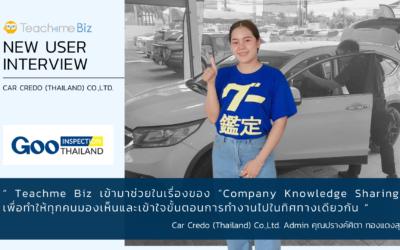 【User Interview】Car Credo (Thailand) Co.,Ltd.