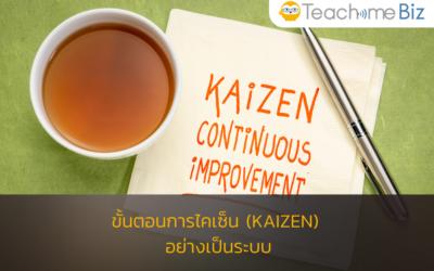 ขั้นตอนการไคเซ็น (Kaizen) อย่างเป็นระบบแบบ Teachme Biz